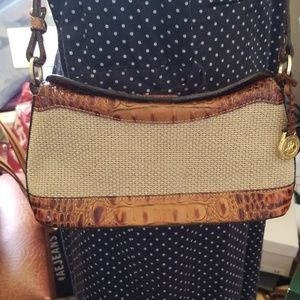 Brahmin Crossbody Straw and Croc. EVC